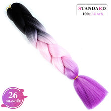 Load image into Gallery viewer, LUPU 24inch Long Synthetic Crochet Jumbo Braid Ombre Pink Purple Blue Blonde - florentclothing store