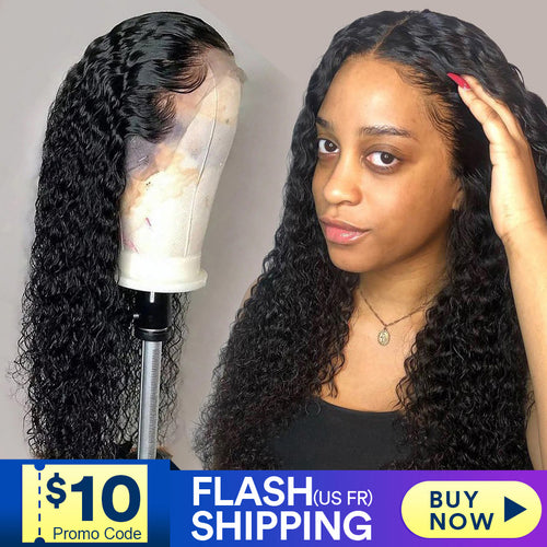 lace front human hair wigs for Black Women deep wave curly hd frontal bob wig - florentclothing store