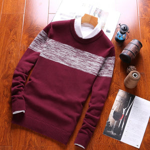 Luulla Men Autumn Spring New Casual Knitted Cotton Pattern Sweaters Pullover Men - florentclothing store