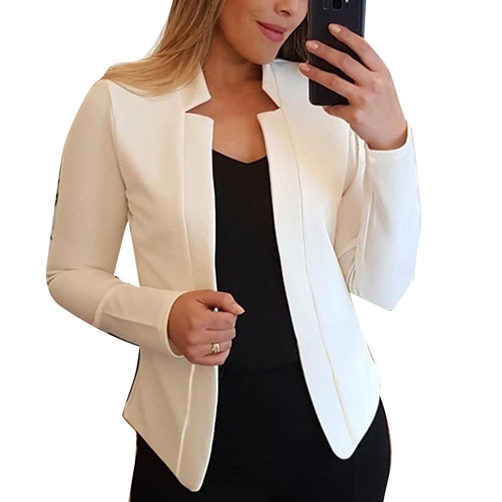 Fall Fashion Women Solid Color Long Sleeve Stand Collar Slims Fit Blazer Coat Women - florentclothing store