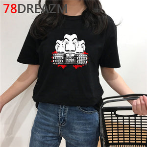 La Casa De Papel T Shirt Men Funny Cartoon Money Heist Tshirt House of Paper Kawaii - florentclothing store