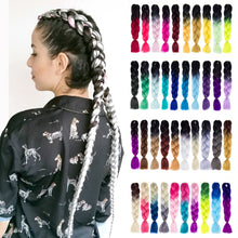 Load image into Gallery viewer, Synthetic hair Braids Kanekalon Ombre Braiding Hair Extension Box Braid Hair - florentclothing store