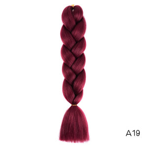 Synthetic hair Braids Kanekalon Ombre Braiding Hair Extension Box Braid Hair - florentclothing store