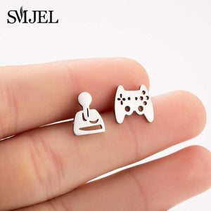 SMJEL Multiple Stainless Steel Stud Earrings for Women Girls Fashion Minimalist - florentclothing store