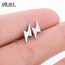 Load image into Gallery viewer, SMJEL Multiple Stainless Steel Stud Earrings for Women Girls Fashion Minimalist - florentclothing store