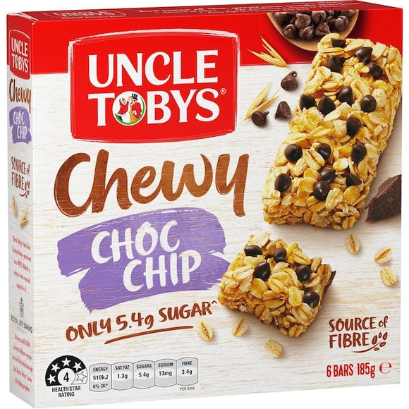 Uncle Tobys Chewy Choc Chip Muesli Bars