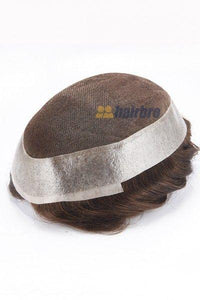French Lace Center with Poly Around Hair Replacement System for Men
