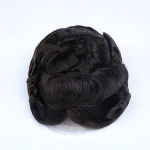 Natural and Durable Bleached French Lace Center and Front with Poly Perimeter Stock Hair System