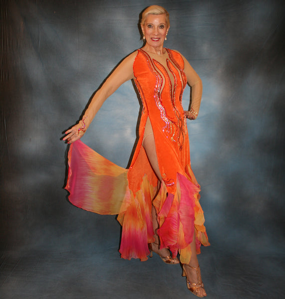 Sunburst...A Gorgeous Orange Ballroom Dress!