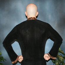Load image into Gallery viewer, Crystal's Creations back view of men's Latin shirt