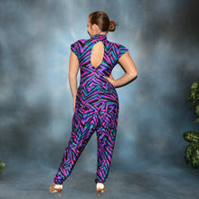Load image into Gallery viewer, Abstract/Ballroom Bodysuit & Pants Set
