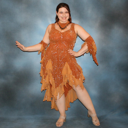 Amber/Bronze Latin Dress