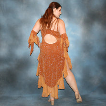 Load image into Gallery viewer, Amber/Bronze Latin Dress