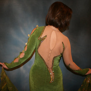 Audra/Green Ballroom Dress
