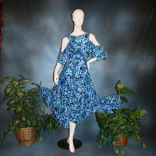Load image into Gallery viewer, Blue Paradise/Social Ballroom Dress