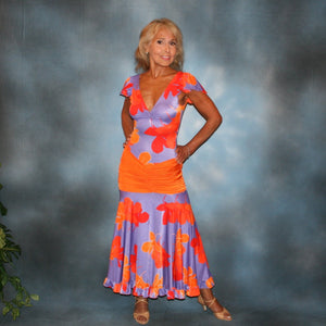 Crystal's Creations tropical print social ballroom dress