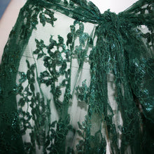 Load image into Gallery viewer, Emerald Petals/Lace Ballroom Skirt