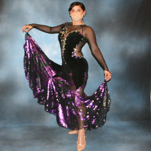 Load image into Gallery viewer, Crystal's Creations black ballroom dress