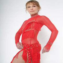 Load image into Gallery viewer, Fringe Fantasy/Red Latin Dress on Sale