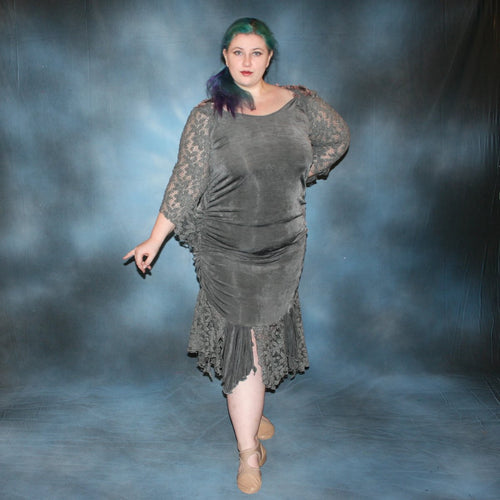 Lacy/Plus Size Latin Dress
