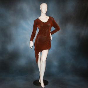 cinnamon brown slinky tunic can also be a simple Latin/rhythm dress for beginner ballroom dancers