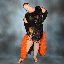 Load image into Gallery viewer, Mardi Gras/Plus Size Latin Dress