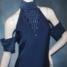 Load image into Gallery viewer, Navy Elegance/Latin Dress on Sale