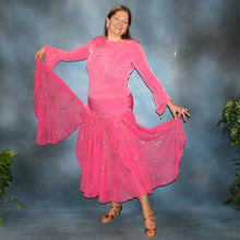 Load image into Gallery viewer, Alexa, pink converta ballroom dress created in solid slinky & glitter chiffon