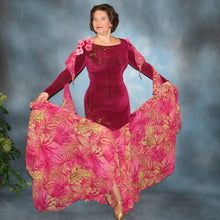 Load image into Gallery viewer, Sahara/Cranberry Ballroom Dress