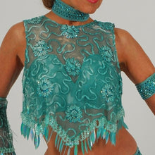 Load image into Gallery viewer, Sassy/Aqua Latin Dress
