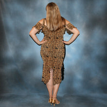 Load image into Gallery viewer, back view of Serengeti print Latin dress