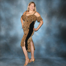 Load image into Gallery viewer, side view of Serengeti print Latin dress