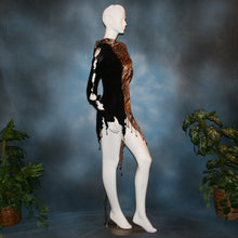 Load image into Gallery viewer, Crystal's Creations side view of Serengeti print Latin dress