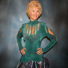 Load image into Gallery viewer, Sheila/Teal Latin Dress