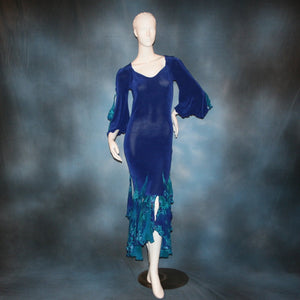Slinky & Tropical/Blue Social Ballroom Dress