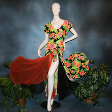 Load image into Gallery viewer, tropical print bodysuit & ballroom skirt