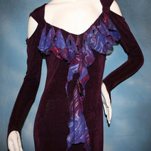 Load image into Gallery viewer, Wine Dazzle/Social Ballroom Dress