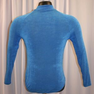 Crystal's Creations back view of men's blue Latin shirt