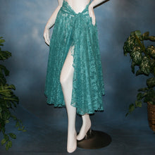 Load image into Gallery viewer, Aqua Petals/Lace Ballroom Skirt