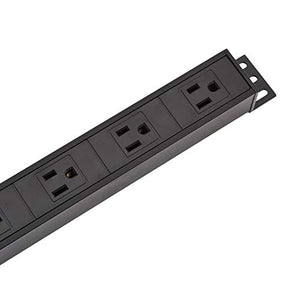AmazonBasics Heavy Duty Metal Surge Protector Power Strip - 16-Outlet, 15A