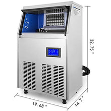 Load image into Gallery viewer, VEVOR 110V Commercial ice Maker 90-100LBS/24H