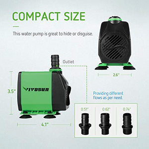 VIVOSUN 800GPH Submersible Pump (3000L/H, 24W)
