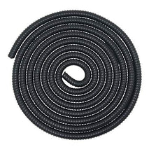 Load image into Gallery viewer, Corrugated Pond Tubing 3/4 Inches ID Aquarium Hose Waterfall Pond Hose PVC Tubing 20 Feet, Black