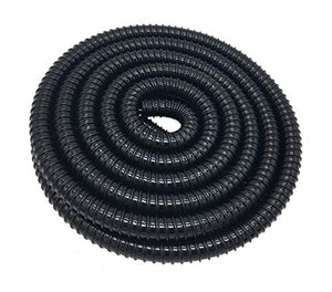 Corrugated Pond Tubing 3/4 Inches ID Aquarium Hose Waterfall Pond Hose PVC Tubing 20 Feet, Black