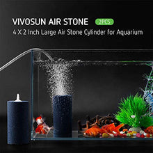 Load image into Gallery viewer, VIVOSUN Air Stone 2PCS 4 X 2 Inch Large Air Stone Cylinder