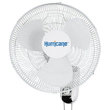 Load image into Gallery viewer, Hurricane Wall Mount Fan 16 Inch, Classic Series, 90 Degree Oscillation 3 Speed Settings, Adjustable Tilt-ETL Listed, 16-Inch, White