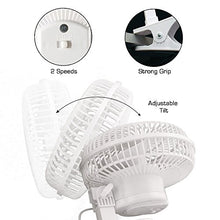 "Load image into Gallery viewer, Hurricane Classic Series Clip Fan, 6"", 6-Inch, White"