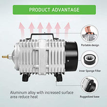 Load image into Gallery viewer, VIVOSUN Air Pump 1110 GPH 8 Outlet 50W 70L/min Commercial Air Pump