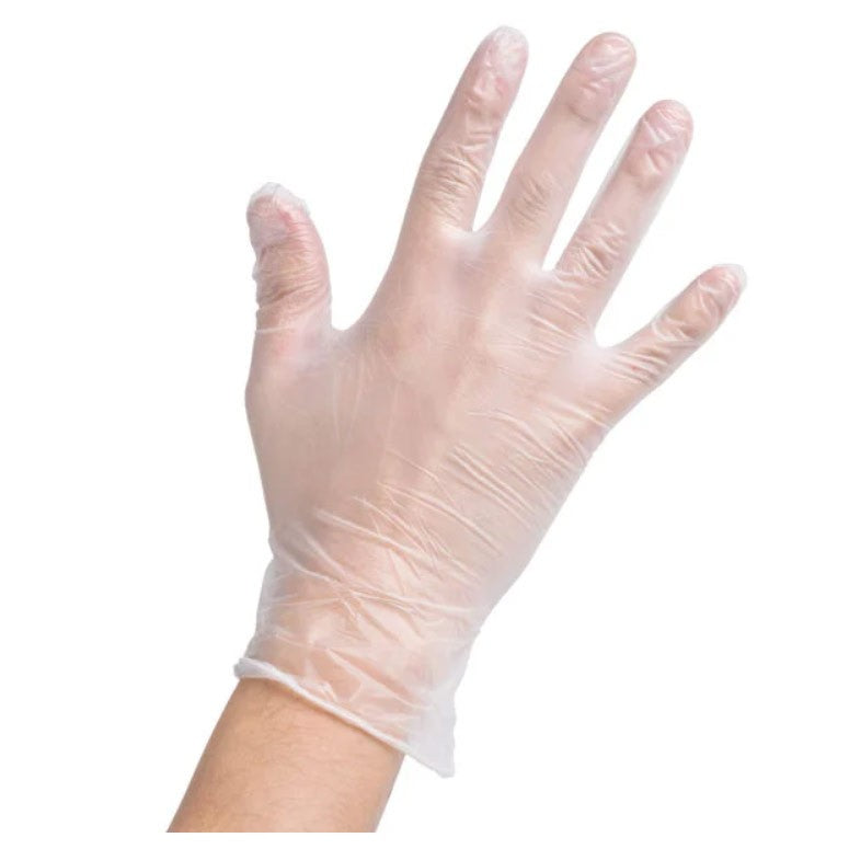 Vinyl Disposable Gloves Powder Free - 100 Count