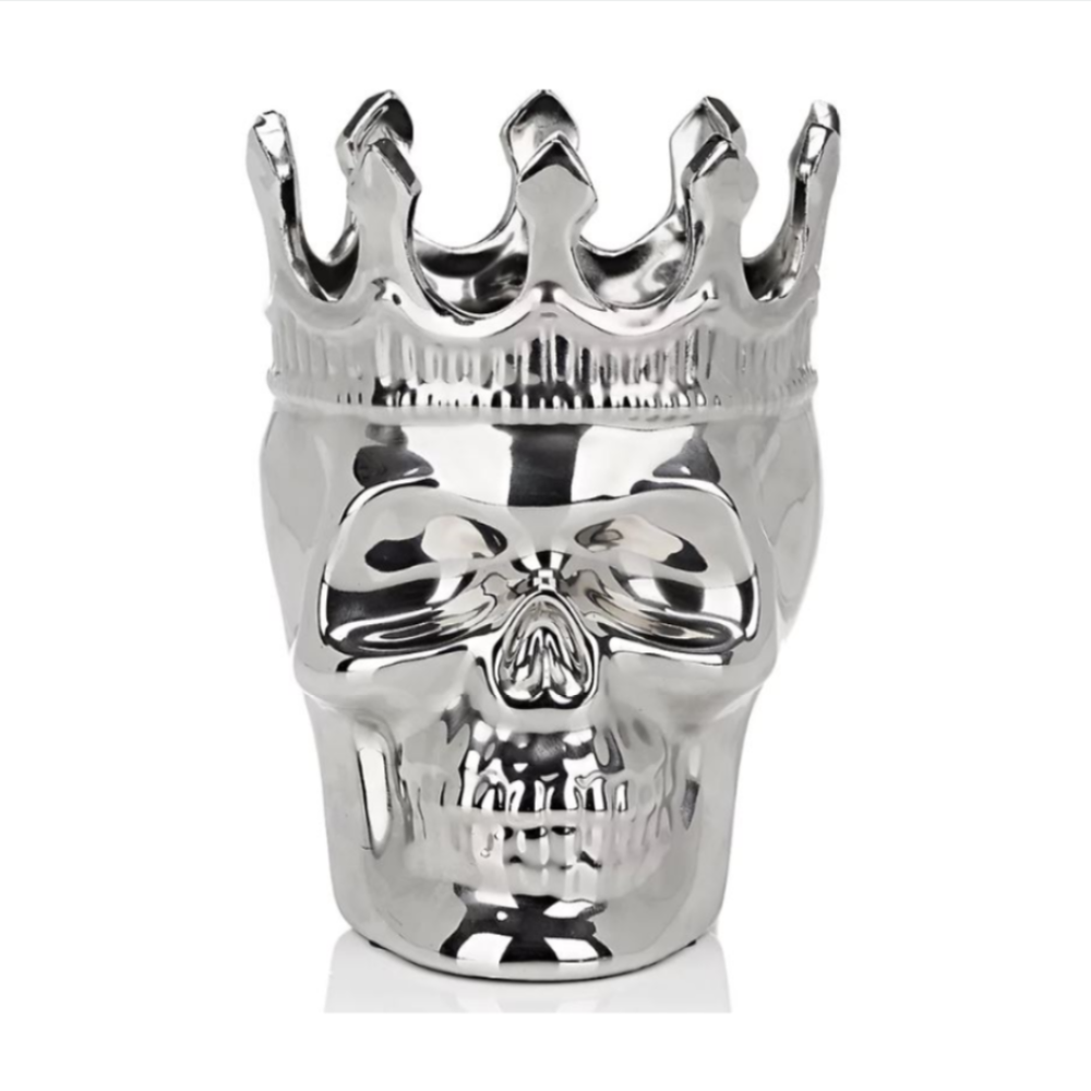 Silver Maximilien Skull in Thé Aroma